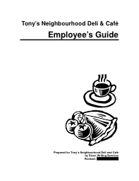 Employee guidebook, restaurant